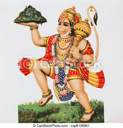 scimmia, (, hanuman, god), indù, divinità - csp8126861