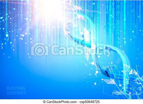 Scince illustration of bigdata. - csp50648725
