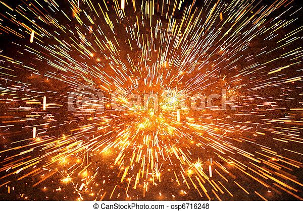 scintilla, esplosione - csp6716248
