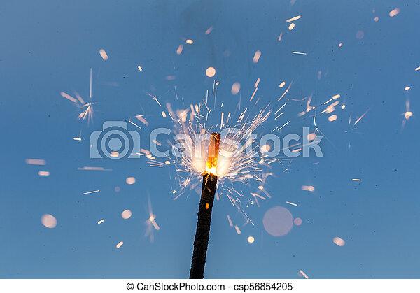 scintille, fuoco, astratto - csp56854205