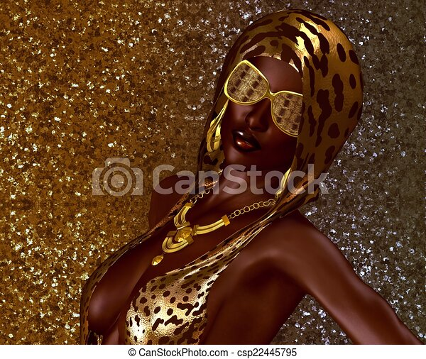 Scintillement Or Beaute Africaine Mode Or Accessoires Peau