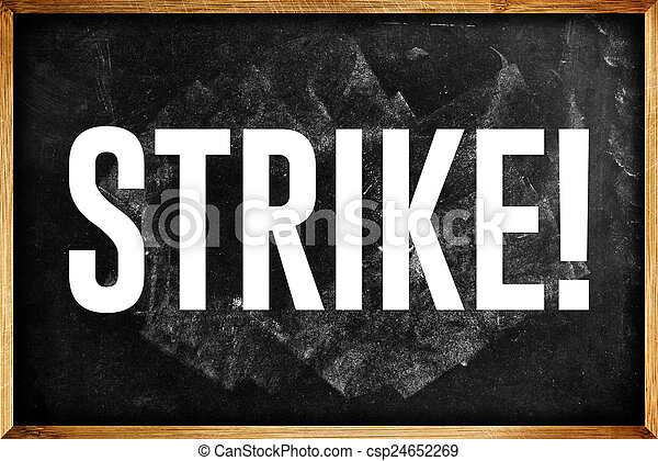 Scuola parola concetto sciopero insegnanti chalkboard for Piani di casa artigiana con seminterrato di sciopero
