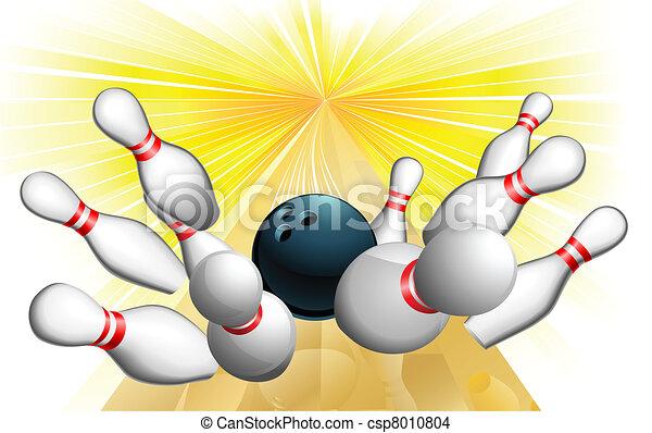 sciopero, palla, bowling - csp8010804