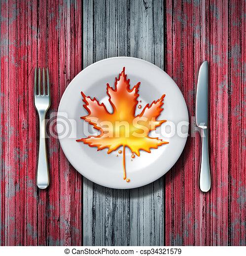 Sciroppo acero canadese dorato marrone dolce baking - Foglia canadese contorno foglia canadese ...