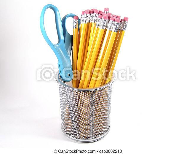 Scissor and Pencils - csp0002218