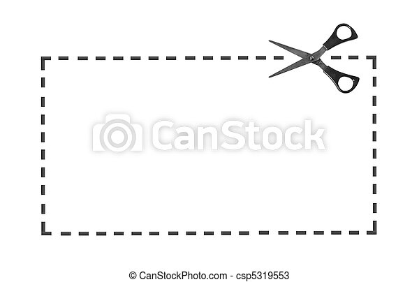 Scissor on dotted line - csp5319553