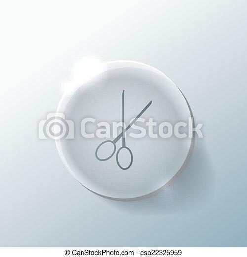scissors. barbershop. - csp22325959