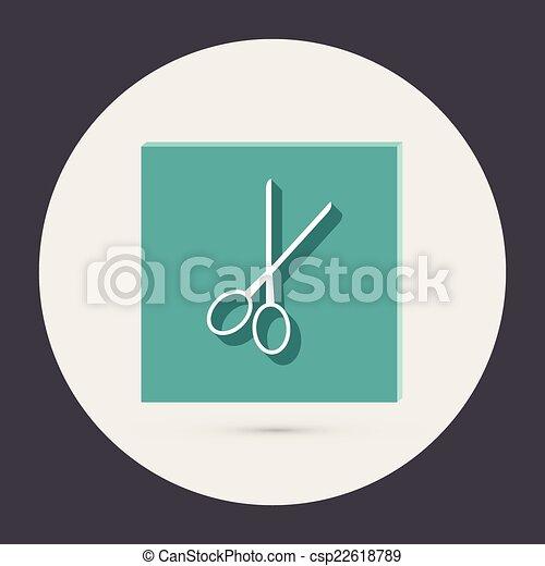 scissors. barbershop. - csp22618789