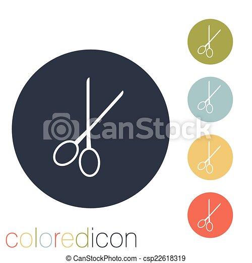 scissors. barbershop. - csp22618319