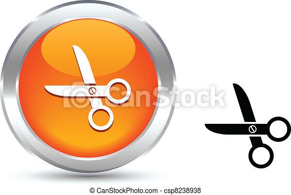 scissors button. - csp8238938