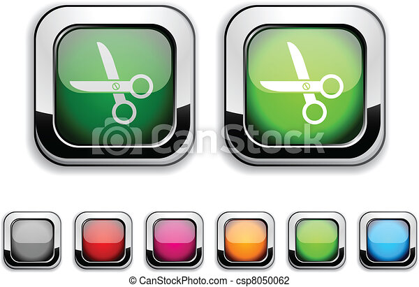 scissors button. - csp8050062