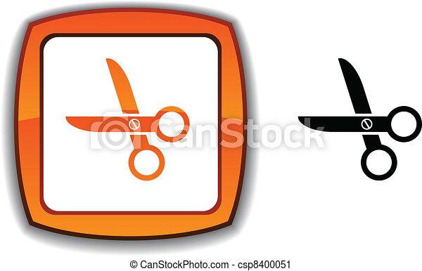 scissors button. - csp8400051