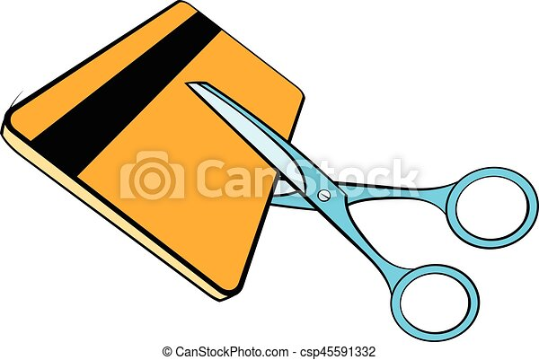 scissors cut credit card icon cartoon scissors cut credit rh canstockphoto co uk credit card clipart black and white credit card clip art images