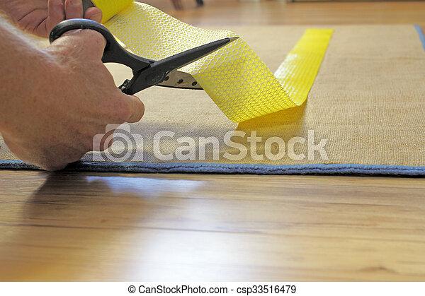 Scissors Cutting Rug Grip Tape - csp33516479