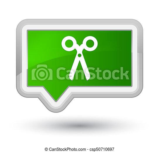 Scissors icon prime green banner button - csp50710697