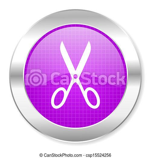 scissors icon - csp15524256