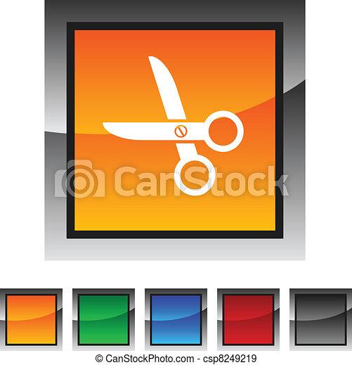 scissors icons. - csp8249219