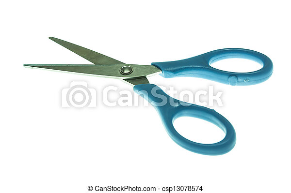 scissors isolated on white background - csp13078574
