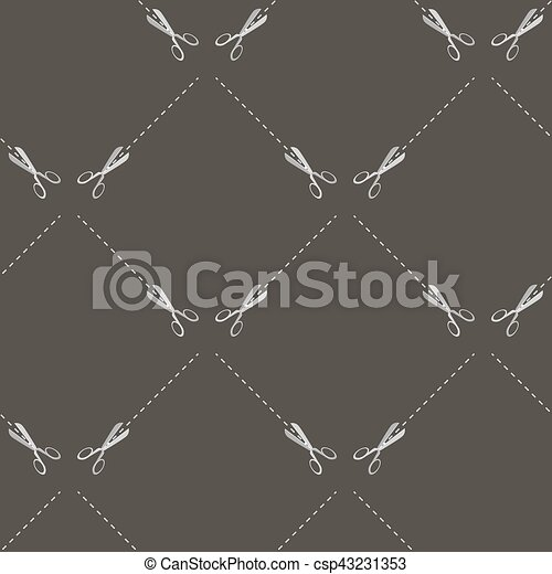 Scissors Seamless Pattern - csp43231353