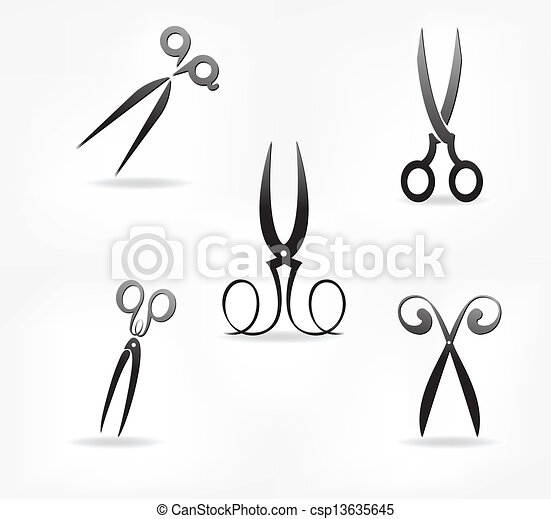 scissors. stylization. - csp13635645