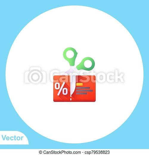 Scissors vector icon sign symbol - csp79538823