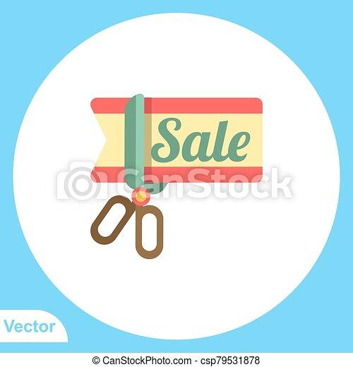 Scissors vector icon sign symbol - csp79531878