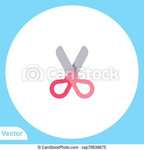 Scissors vector icon sign symbol - csp79539675