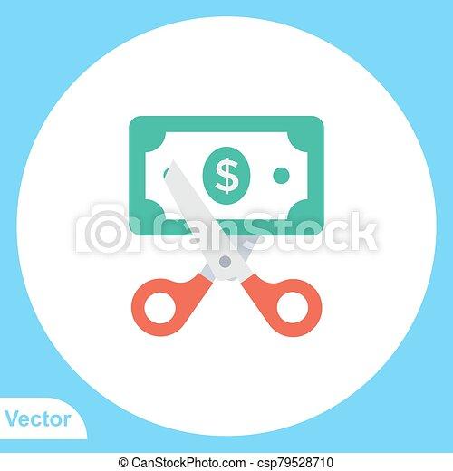 Scissors vector icon sign symbol - csp79528710