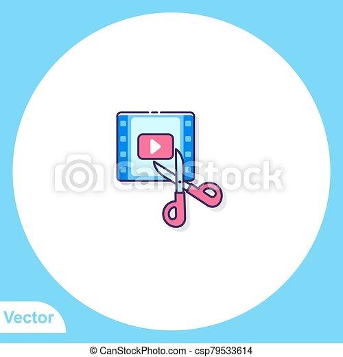 Scissors vector icon sign symbol - csp79533614