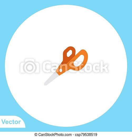 Scissors vector icon sign symbol - csp79538519