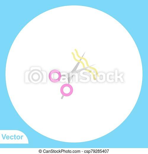 Scissors vector icon sign symbol - csp79285407