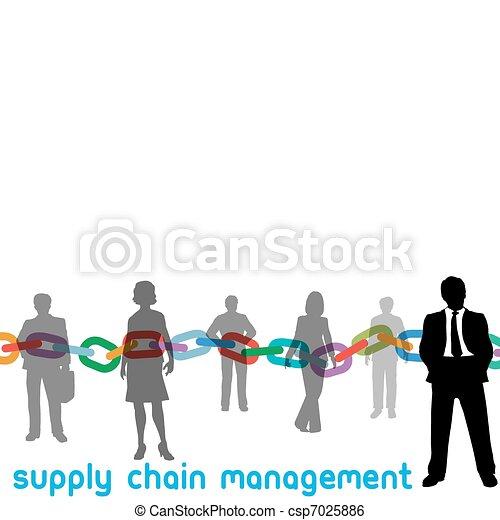 SCM Supply Chain Management enterprise people manager - csp7025886