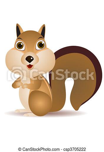Vettore scoiattolo cartone animato.