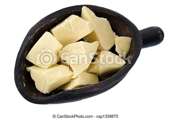 scoop of white chocolate chunks - csp1339870