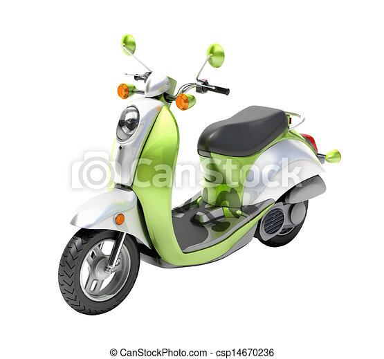 Scooter close up - csp14670236