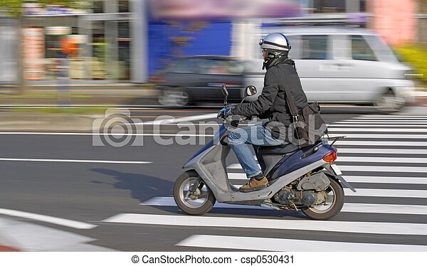Scooter in motion - csp0530431
