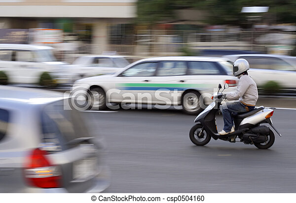 Scooter in traffic - csp0504160