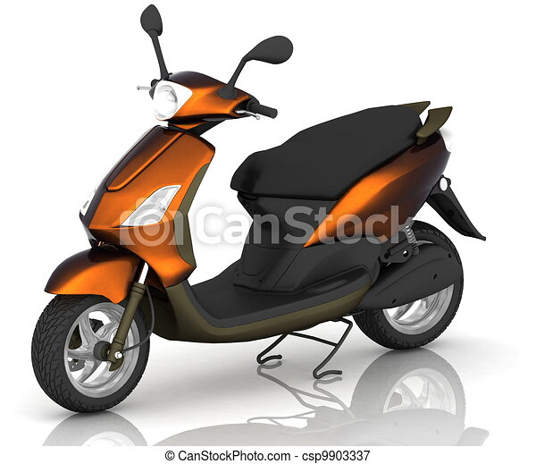 Scooter on white background - csp9903337
