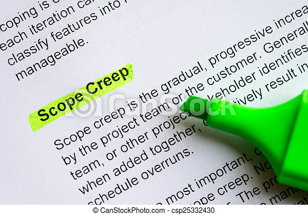 scope creep - csp25332430