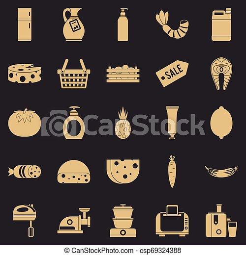 Score icons set, simple style - csp69324388