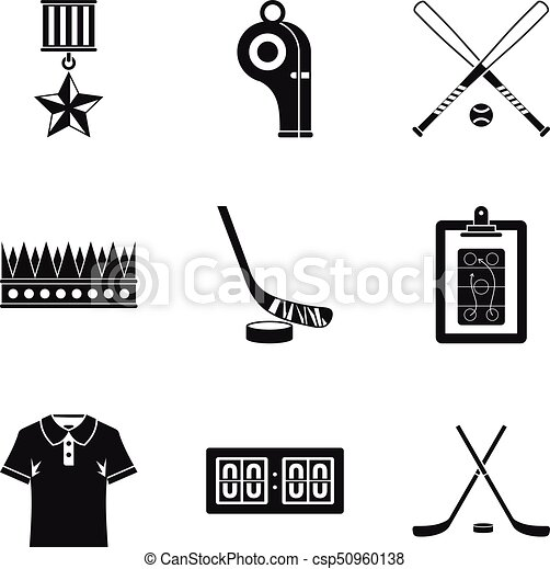 Score icons set, simple style - csp50960138