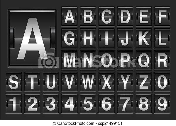 Scoreboard alphabet. - csp21499151