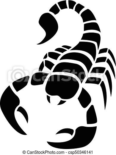 Scorpion icon in simple tattoo style vector design for Simple scorpion tattoo