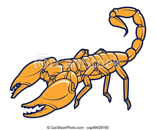 scorpion logo tattoo animal mascot vector illustration clip art rh canstockphoto com scorpio clip art scorpion clip art free