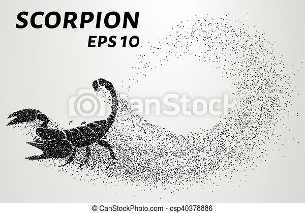 Scorpion of the particles. Scorpion consists of small circles. Vector illustration - csp40378886