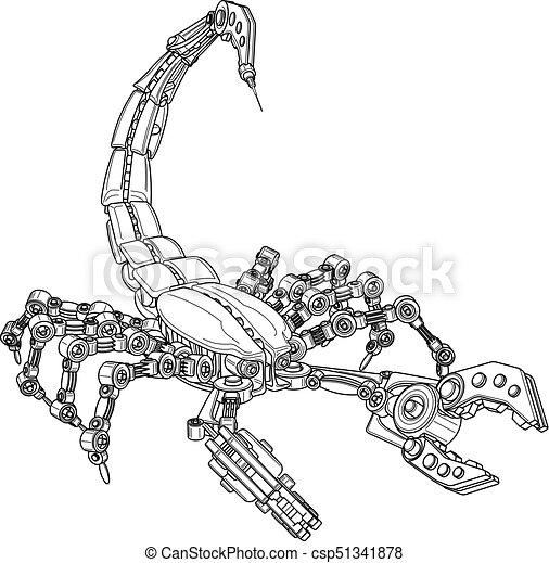 scorpione, meccanico - csp51341878