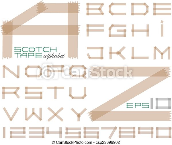 Scotch tape alphabet - csp23699902