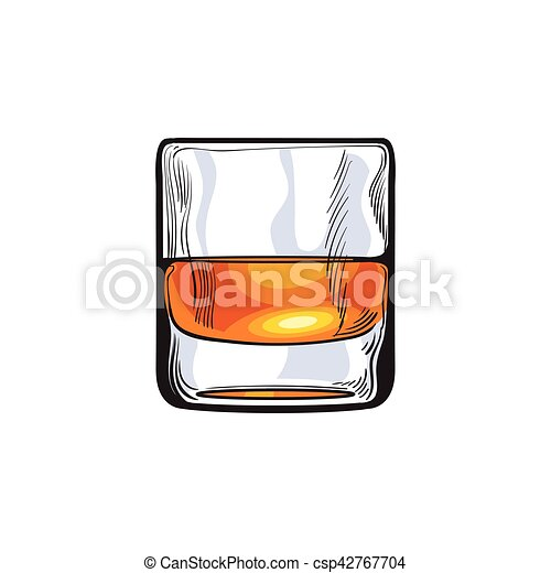 scotch whiskey rum brandy shot glass sketch style vector rh canstockphoto com Old-Fashioned Artist Clip Art Clip Art Old-Fashioned Drink
