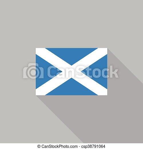 Scotland flag flat design vector illustration - csp38791064
