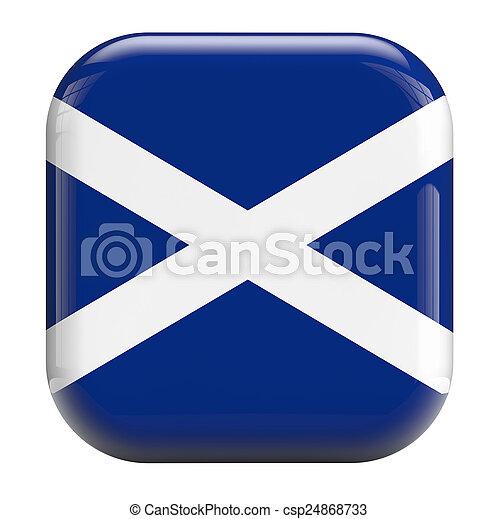 Scotland flag icon - csp24868733